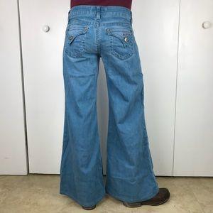Hudson Signature Flap Pocket Wide Leg Jeans Sz 26